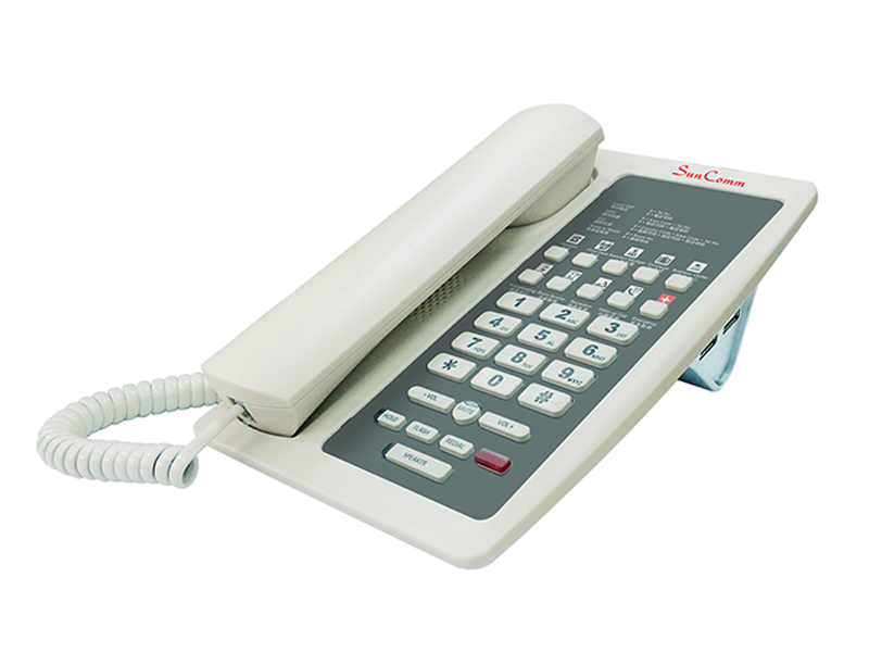 IP Phone with PoE for Hotel use